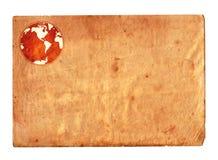地球纸葡萄酒 库存图片