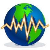 地球线路地震 库存图片