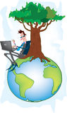 地球经理行星 免版税库存图片