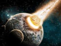地球结尾探险时间宇宙 免版税库存照片