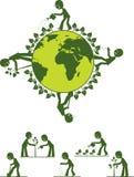 地球绿色做 库存图片