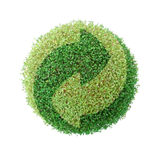 地球绿色回收 库存图片