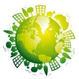 地球绿色行星 免版税库存图片