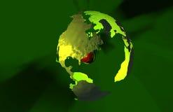 地球绿色 库存图片