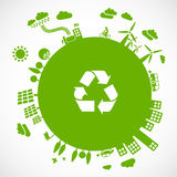 地球绿色 免版税库存照片