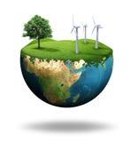 地球绿色 免版税图库摄影