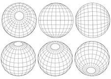 地球网格向量 库存图片