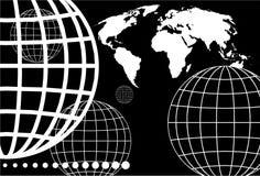 地球网格 库存图片