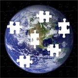 地球美国航空航天局照片难题 免版税库存照片