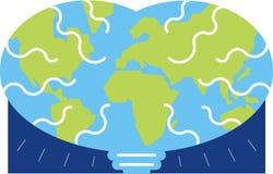 地球脑子 免版税库存图片