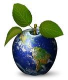 地球苹果计算机 免版税库存照片