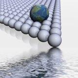 地球范围 向量例证