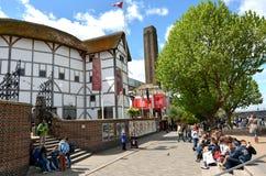地球莎士比亚剧院在伦敦-英国英国 免版税库存照片