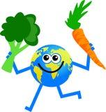 地球蔬菜 皇族释放例证