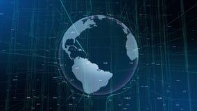 地球行动微粒abstact线网际空间 皇族释放例证