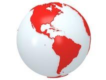 地球行星地球。3D回报。美国视图。 免版税库存图片
