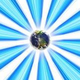 地球行星漩涡 免版税库存图片