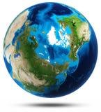 地球行星真正的山安心 免版税库存图片