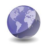 地球行星紫色 免版税库存照片