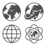 地球被设置的地球象 图库摄影