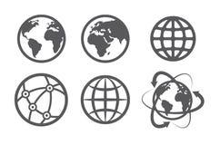 地球被设置的地球象 免版税库存图片