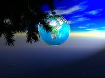 地球装饰品 免版税库存照片