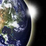 地球视图 库存照片