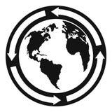地球象,简单的样式 免版税图库摄影