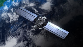 地球轨道的卫星 图库摄影