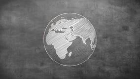 地球转动 库存例证