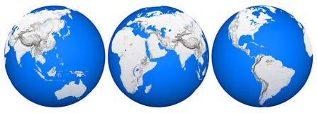 地球透视图 图库摄影