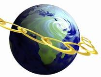 地球金子 库存例证