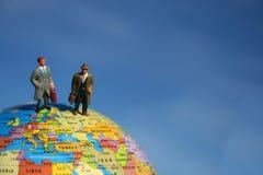 地球销售人员突出 免版税库存图片