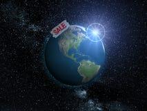 地球销售额 库存图片