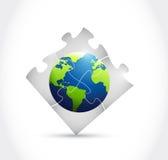 地球难题例证设计 库存图片