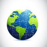 地球难题例证设计 免版税库存图片