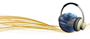 地球音乐 免版税库存照片