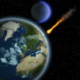 地球飞星 图库摄影