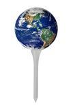 地球高尔夫球发球区域 图库摄影