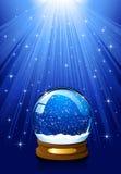 地球魔术雪 免版税库存图片