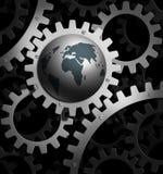 地球齿轮 免版税库存图片