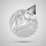 地球,样品的, templa地球抽象设计  免版税库存图片