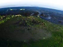 地球-可看见的海底上的亚马逊三角洲 皇族释放例证