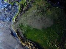 地球-可看见的海底上的亚马逊雨林 皇族释放例证