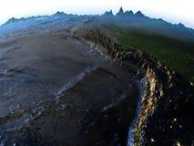 地球-可看见的海底上的亚马逊雨林 向量例证