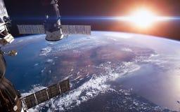 地球 美国航空航天局装备的元素 库存图片