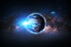 地球 美国航空航天局装备的这个图象的元素 库存照片