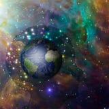 地球头脑 免版税库存照片