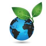 地球绿色行星概念 库存照片