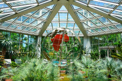 地球(行星maket)在Palmen Garten,法兰克福,赫斯 库存照片